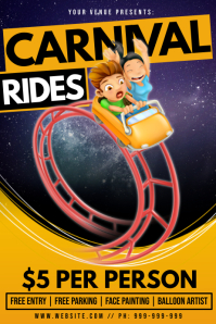 Carnival Rides Poster template