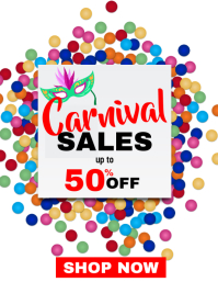 Carnival sales up to 50% off