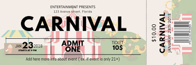 Carnival Ticket Template Banner 2' × 6'