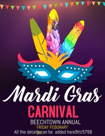 Carnival video template,event video flyers,mardigras templat