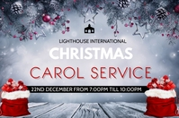 carol service Poster template
