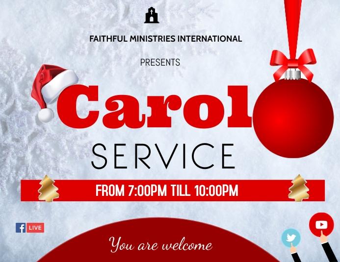 carol service flyer Pamflet (Letter AS) template