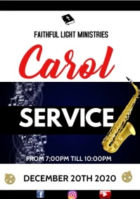 carol service video A3 template