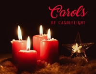 Carols by candlelight Flyer (format US Letter) template