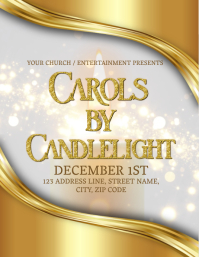 Carols By Candlelight Event Flyer Template