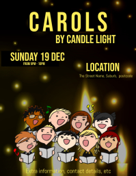 Carols by candlelight Poster 传单(美国信函) template