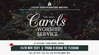 CAROLS worship service Affichage numérique (16:9) template