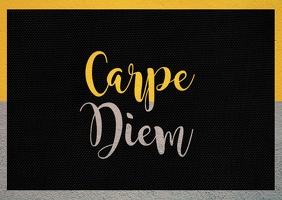 Carpe Diem Postcard template