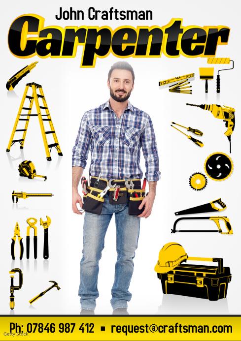 Carpenter Business Flyer Template | PosterMyWall