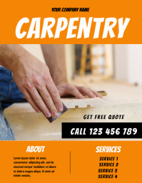carpenter flyer template