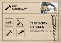 Carpenter Services Postcard template