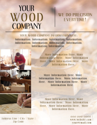 Carpenter / Wood Company Flyer Template