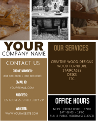 Carpenter / Woodwork Flyer Template