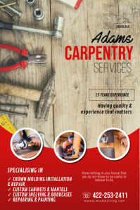 Carpentry Flyer Template Poster
