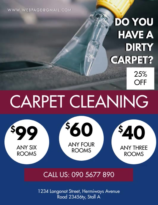 CARPET CLEANING FLYER Pamflet (Letter AS) template