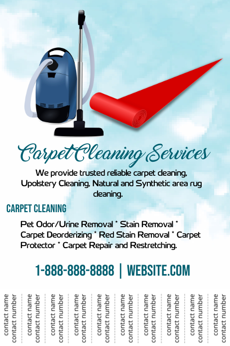 Carpet Cleaning Service Template Postermywall