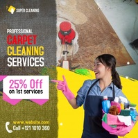 Carpet Cleaning Services Ads Cuadrado (1:1) template