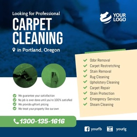 Carpet Cleaning Services Facebook Instagram