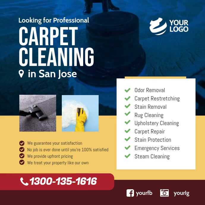Carpet Cleaning Services Facebook Instagram template