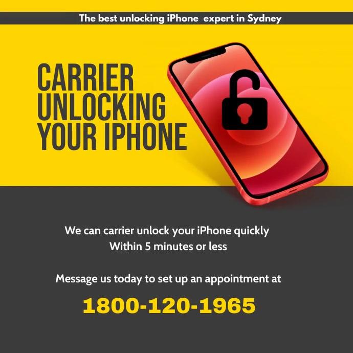 Carrier unlocking iphone instagram template