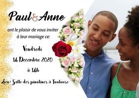 Carte de mariage Postal template
