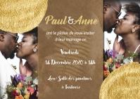 Carte de mariage Postkort template
