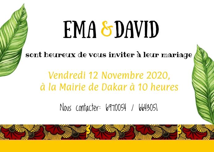 Carte de mariage ไปรษณียบัตร template