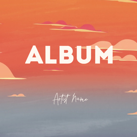 Cartoon animation album cover video