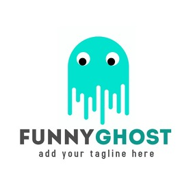 Cartoon ghost logo template