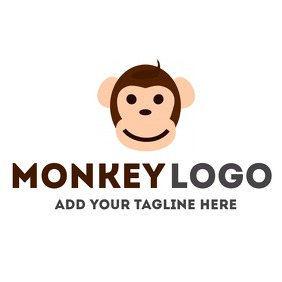 Cartoon monkey logo โลโก้ template