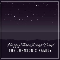 Cartoon Three Kings Greeting Card Video Wpis na Instagrama template