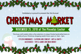 Cartoonish Christmas Market Advertisement Poster