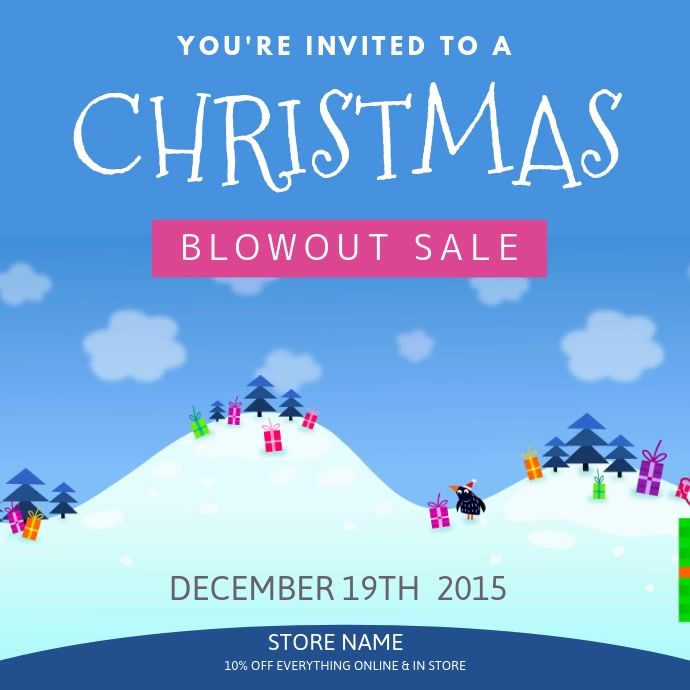 Cartoony Christmas sale video template