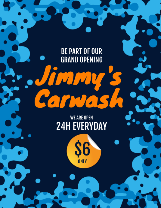Carwash Flyer Iflaya (Incwadi ye-US) template