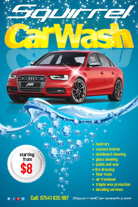 carwash flyer template postermywall