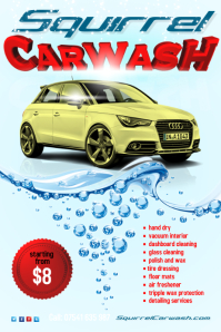 Carwash Leaflet Template