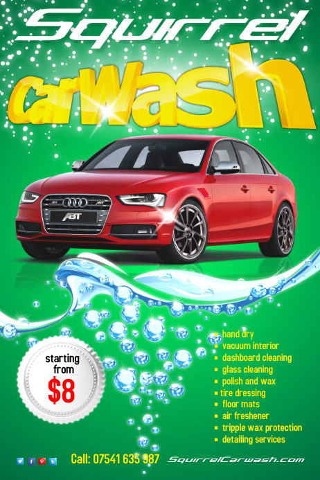 CarWash Flyer Template