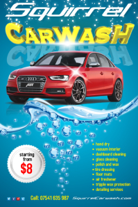 Perfect Carwash Flyer Template