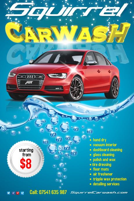 Carwash Flyer Template