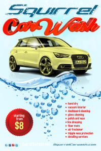 Carwash Poster Template