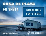 Casa de Playa en venta cartel inmobiliario Ulotka (US Letter) template