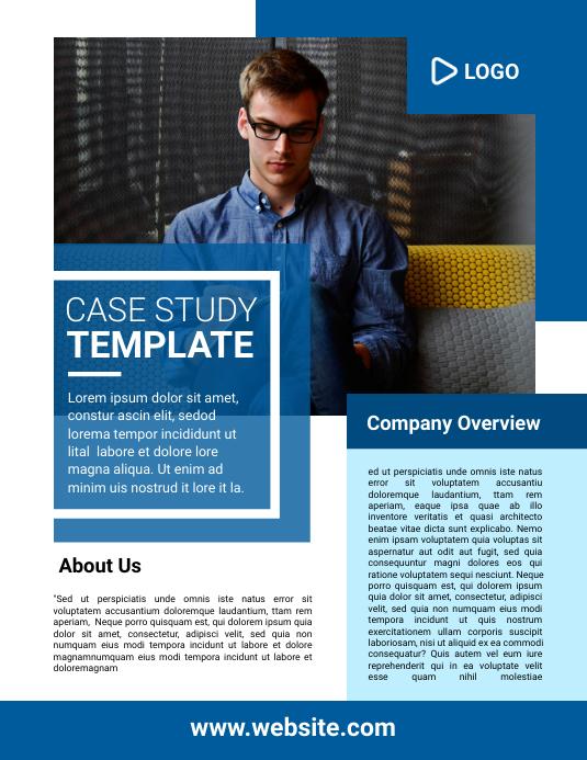 Case Study Template Рекламная листовка (US Letter)