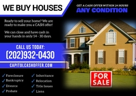 Cash For Houses Postcard template