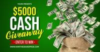 Cash Giveaway Gedeelde afbeelding op Facebook template