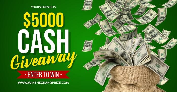 Cash Giveaway Image partagée Facebook template