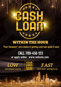 Cash loan advertisement template A4