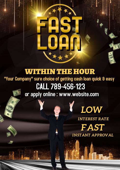 Cash loan advertisement template A4