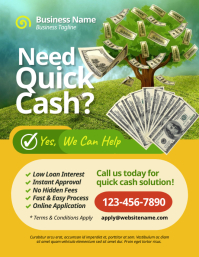 Cash Loan Flyer Volante (Carta US) template
