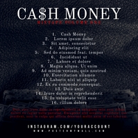 Cash Money Hip-Hop CD Cover Back Template Albumcover