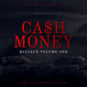 Cash Money Hip-Hop CD Cover Template